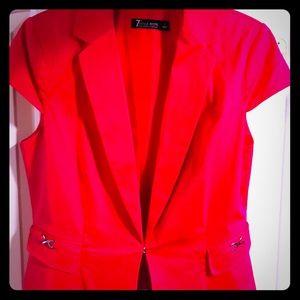 NY&CO SZ 8 Hot Pink blazer perfect condition!